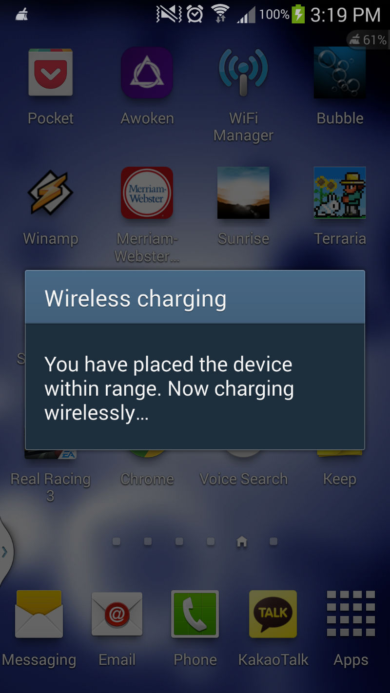 Wirelessly Charging a Galaxy S4