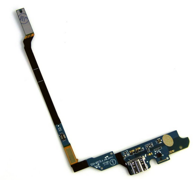 USB charging port and microphone flex cable for Galaxy S4
