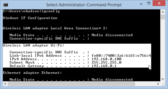 Windows 8.1 Command Prompt Quick Edit