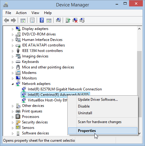 Windows 8.1 Device Manager