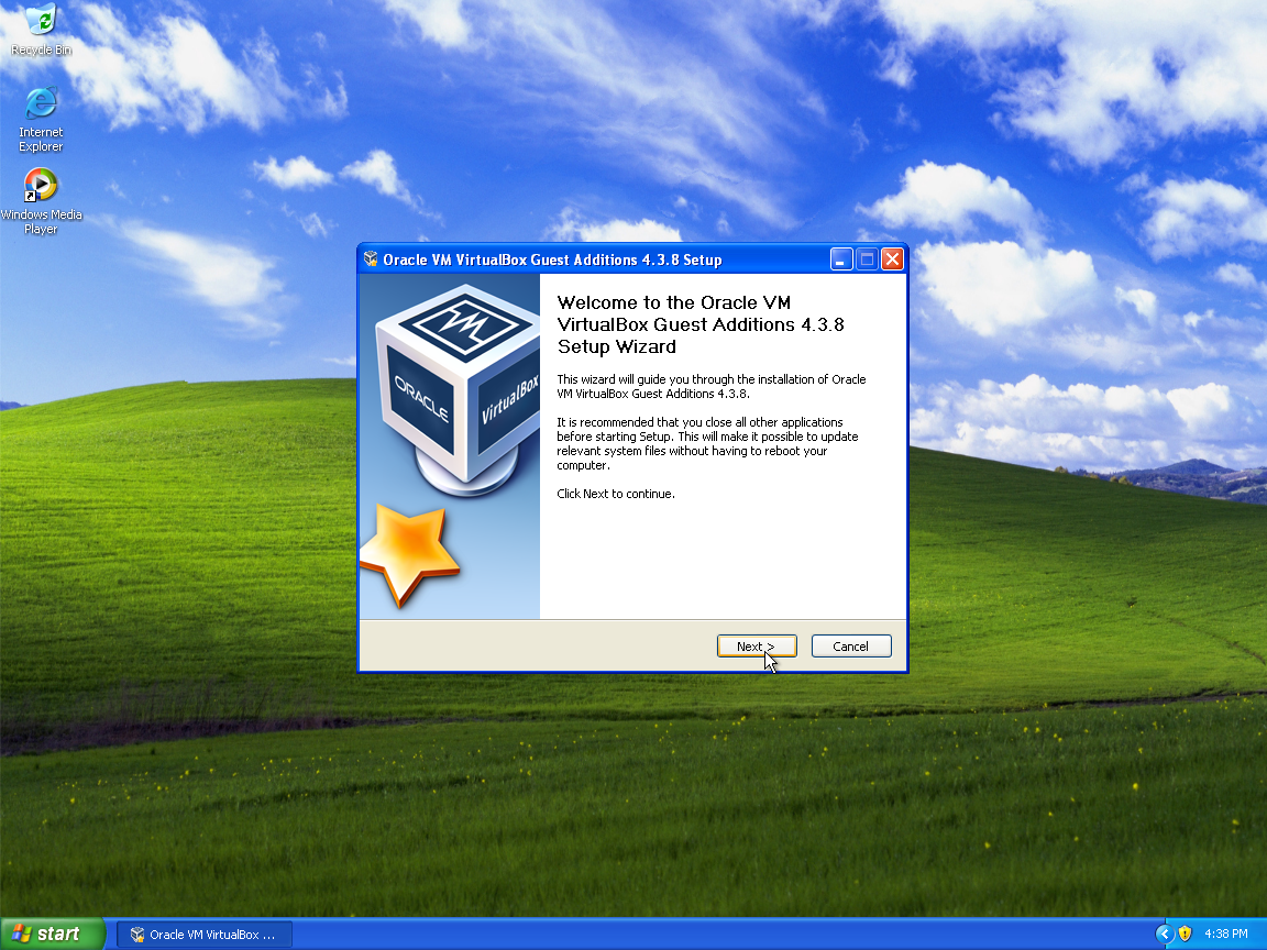 Install Guest Additions in Windows XP