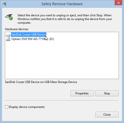 Safely Remove Hardware USB Device
