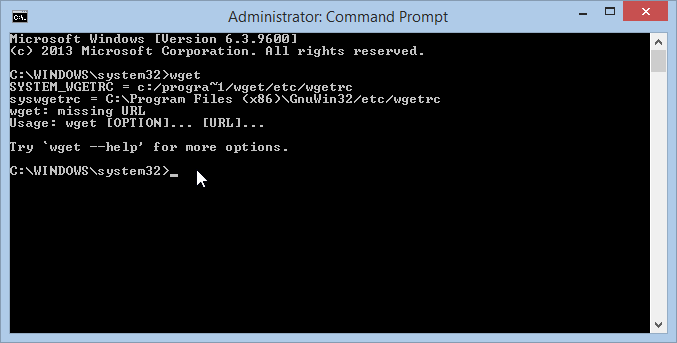wget from the Windows command prompt