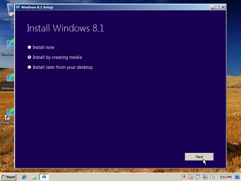 Windows 8.1 Installation Option