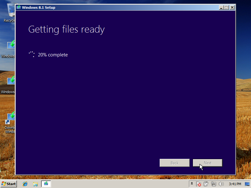 Windows 8.1 Getting Files Ready