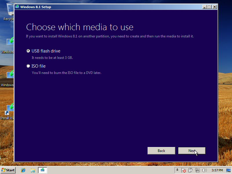 Install Windows 8.1 on USB Installation Media