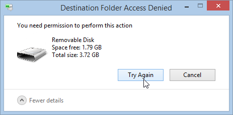 "Fix ""cannot delete folder. You need permission to perform this action""."