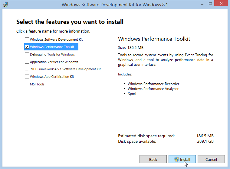 Windows Software Development Kit for Windows 8.1