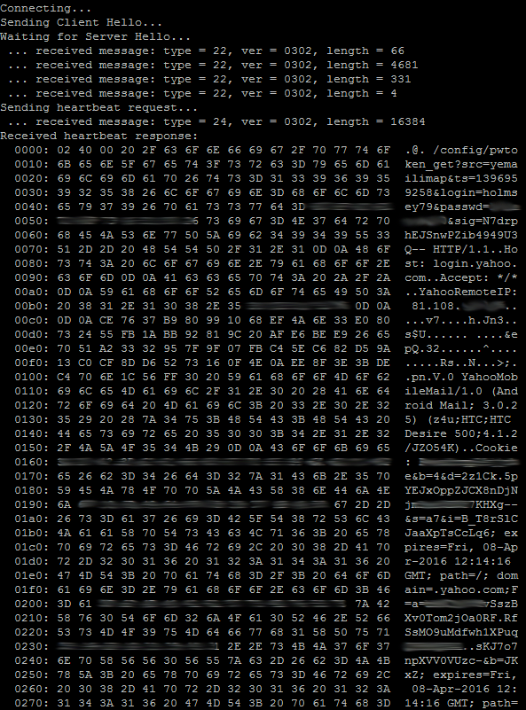 Heartbleed example from Foxit