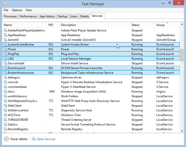windows 10 task manager service host