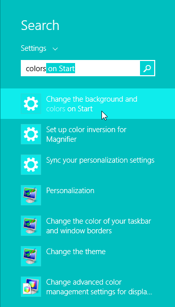 Windows 8.1 Update Background and Color on Start