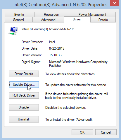 Windows 8.1 Update Driver Device Manager