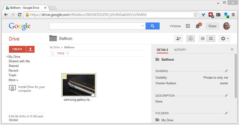 Ballloon image in Google Drive