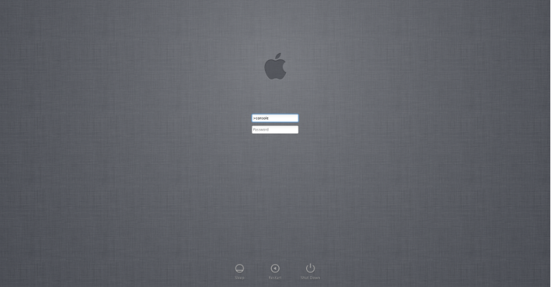 fixedByVonnie Mac OS X Login Screen