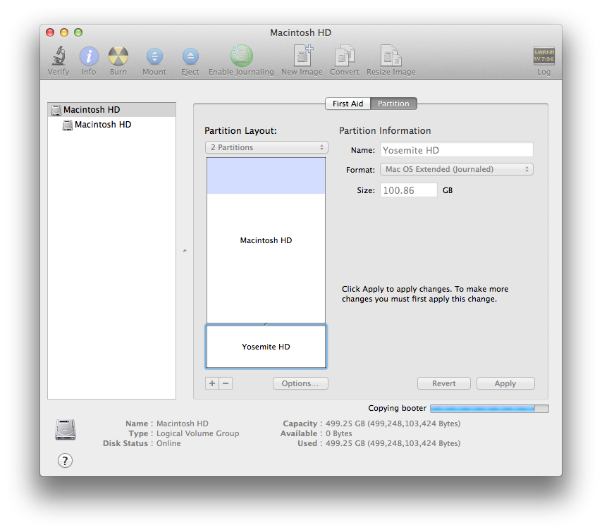 Partitioning your Mac OS X disk