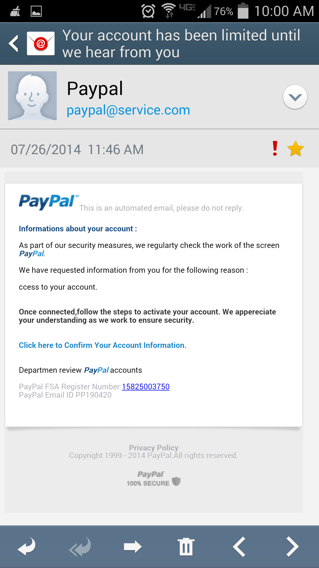 real paypal account