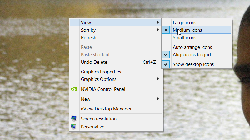 How to change the icon size in Windows