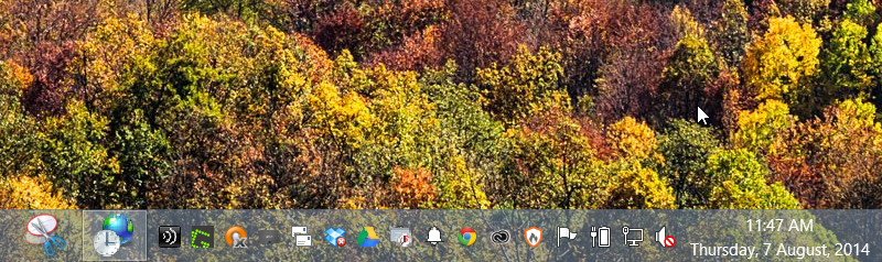 Date and Time in Taskbar