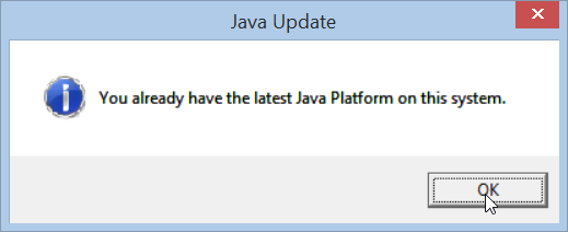 You already have the latest Java Platform on this sytem