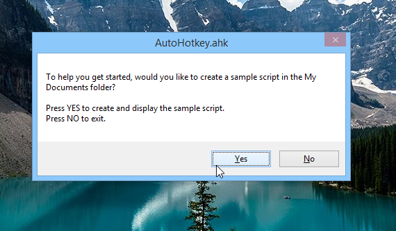 Create autohotkey sample script