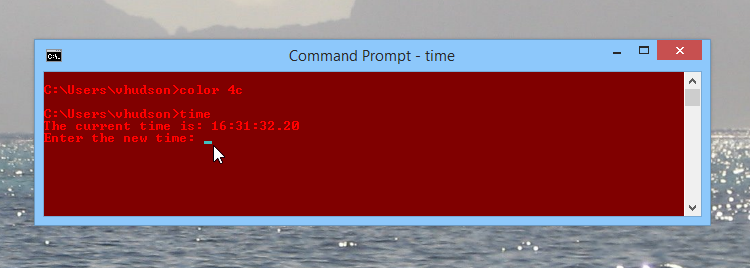 Changing the command prompt colors again!