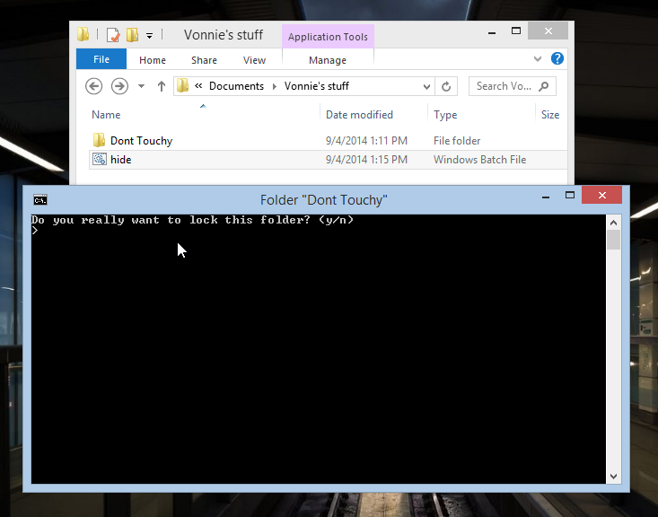 Folder locking trick in Windows 8.1