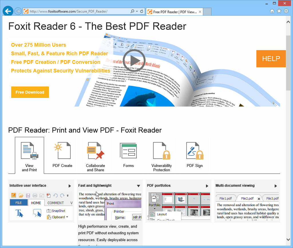 Download FoxitPDF Reader