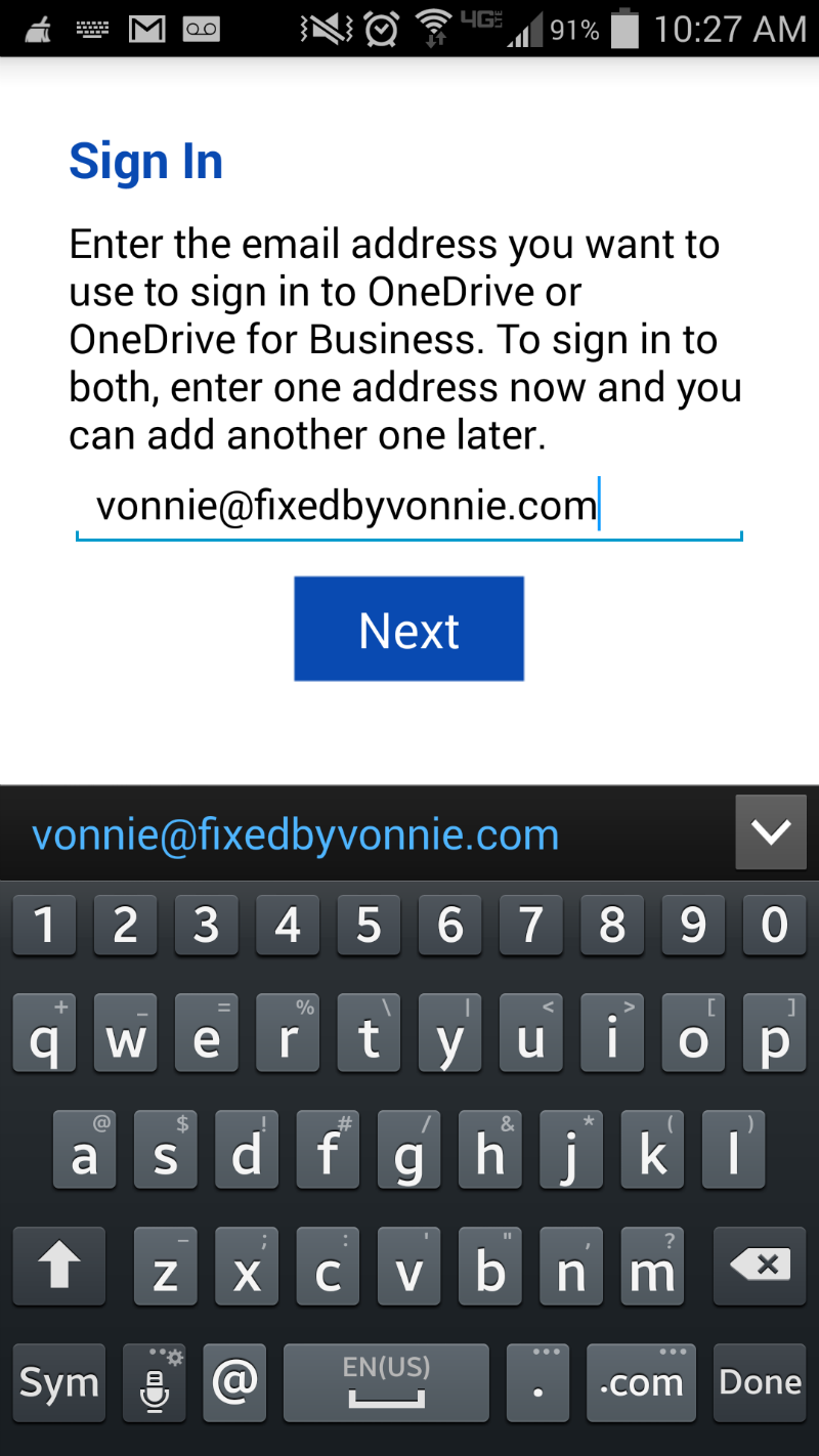 Sign-in to the OneDrive app on your phone