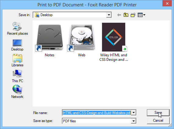 Saving Part of a PDF to your Desktop