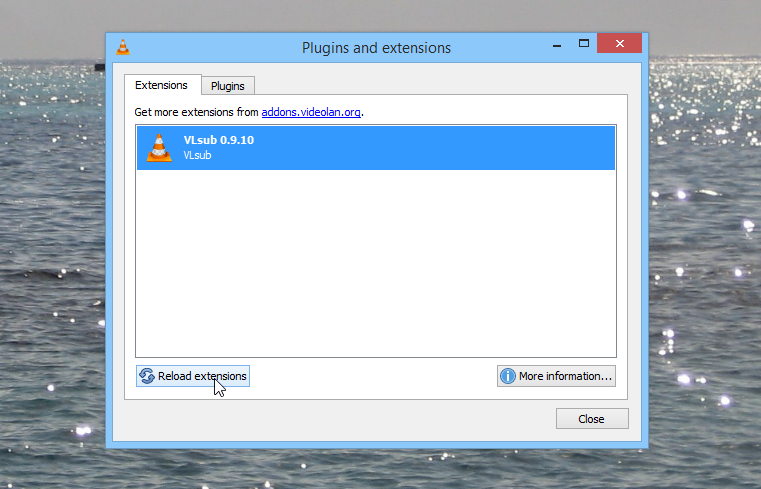 VLC Player Plugins and extensions VLSub