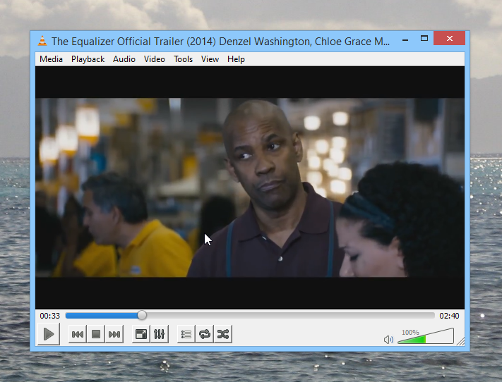 The Equalizer Official Trailer in VLC Player