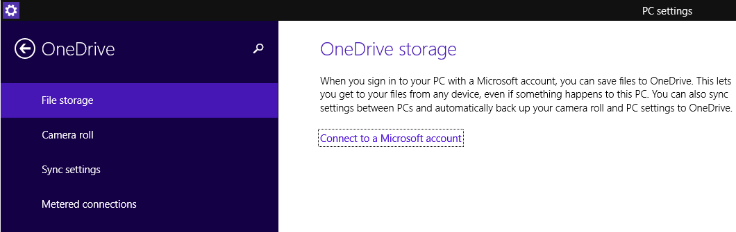 Connect to OneDrive with Microsoft account