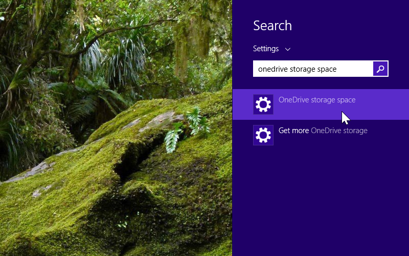 OneDrive Storage Space on Windows 8.1