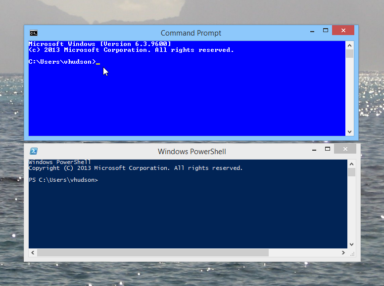 Powershell and it's sycophantic friend the command prompt