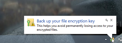 Back up your file encryption key