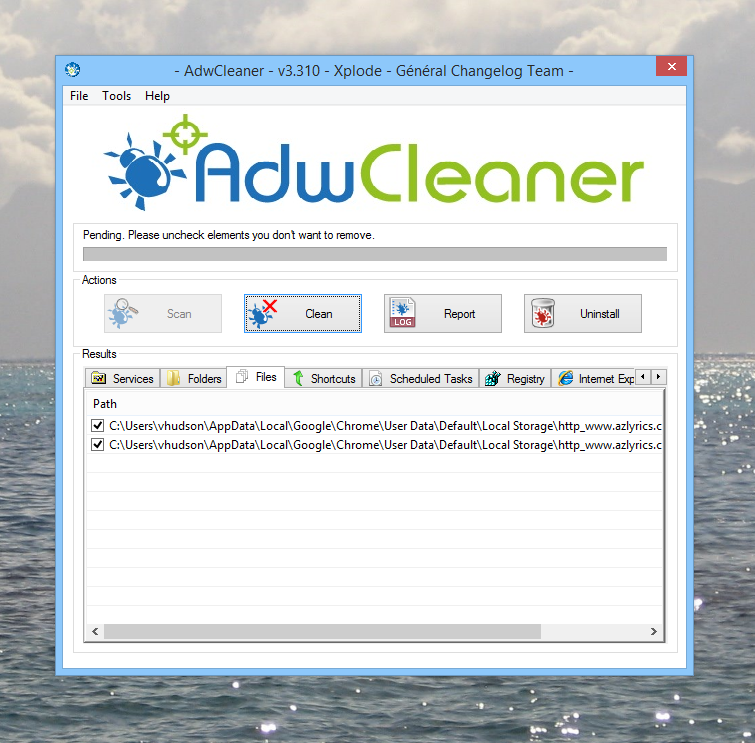 Cleaning your computer with AdwCleaner