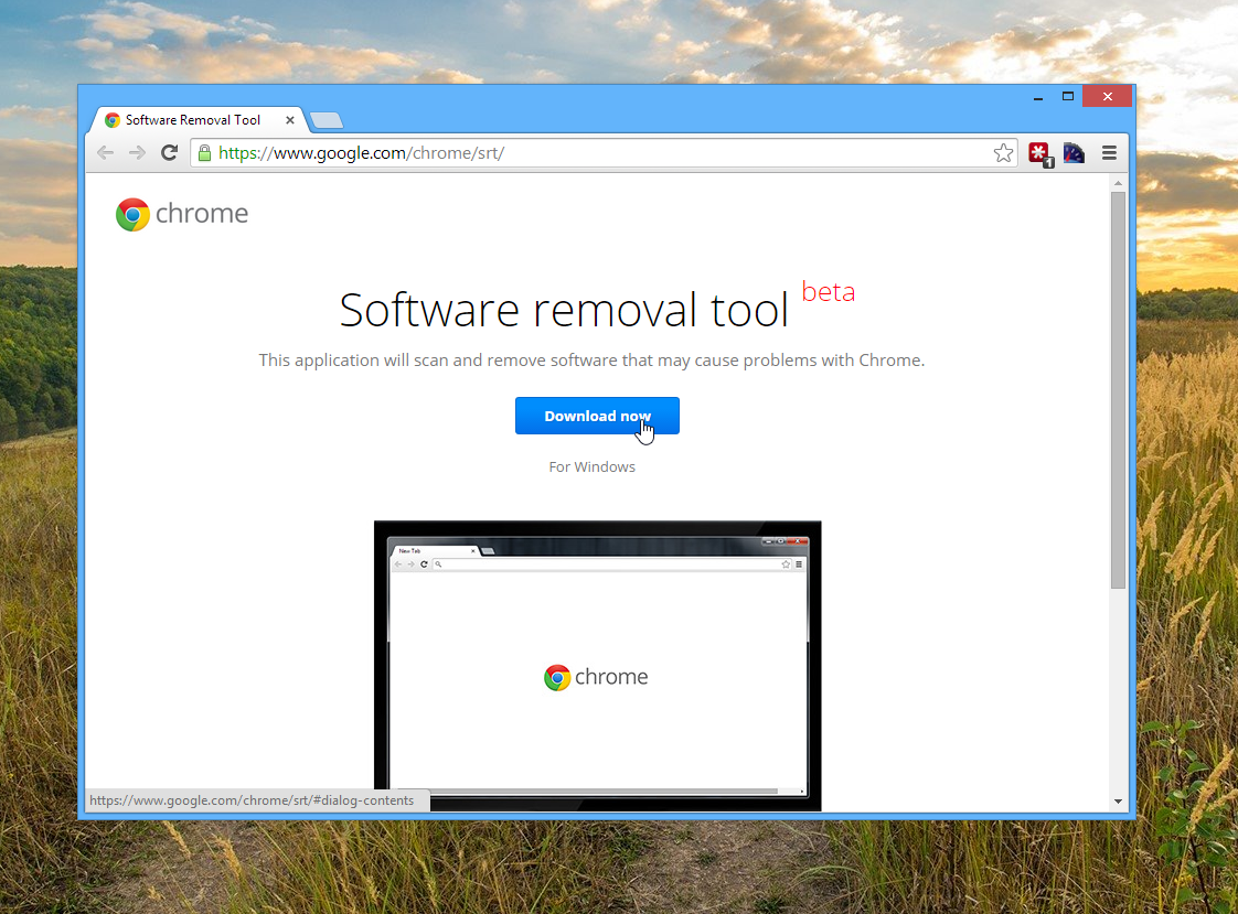 Download the Google Chrome Software Removal Tool