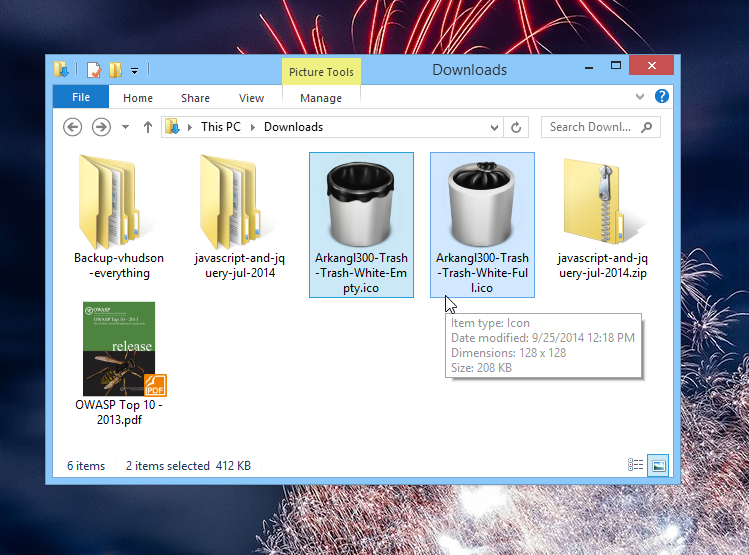 how to change your recycle bin icon to your choice