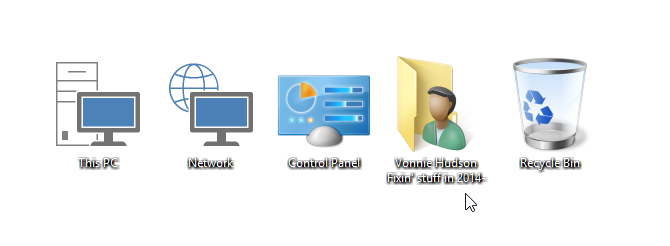 Windows 10 icons with Drop Shadows
