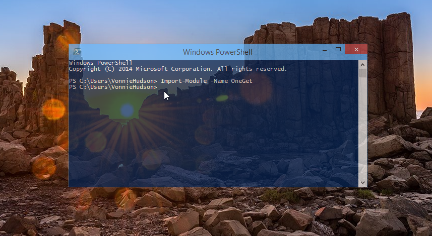 Using PowerShell to Import OneGet