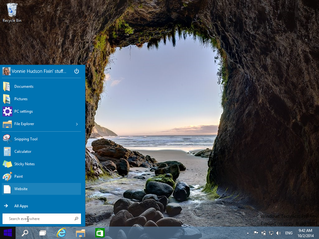 Slimming down the Start Menu in Windows 10