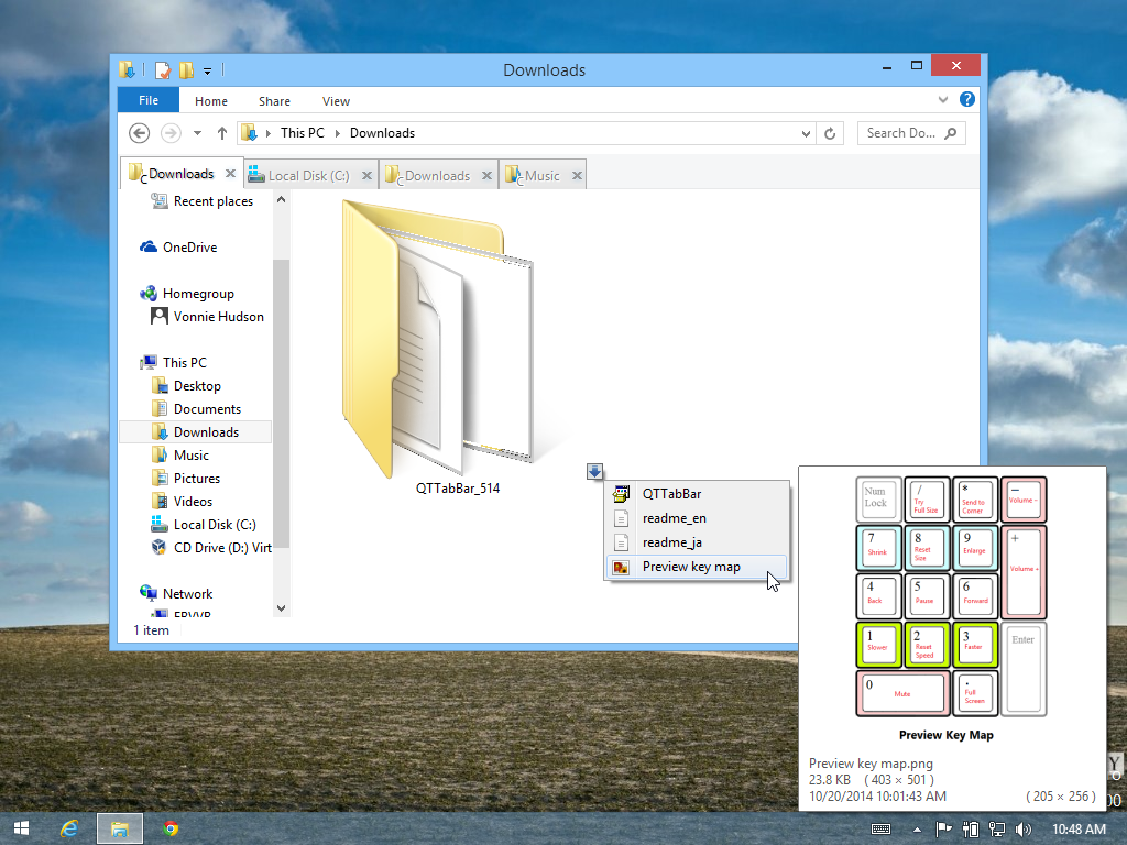 How to add tabbed browsing to Explorer in Windows 8