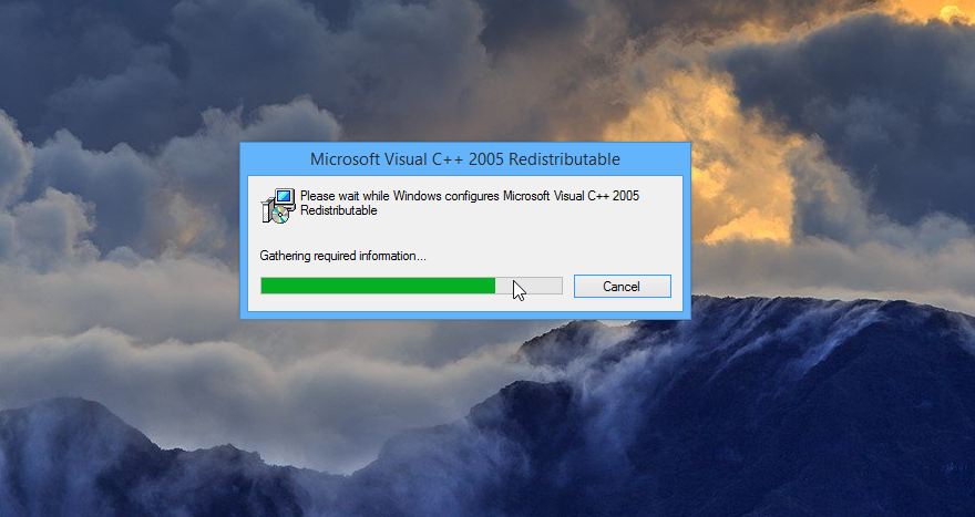 Installing the Microsoft Visual C++ 2005 Redistributable Package