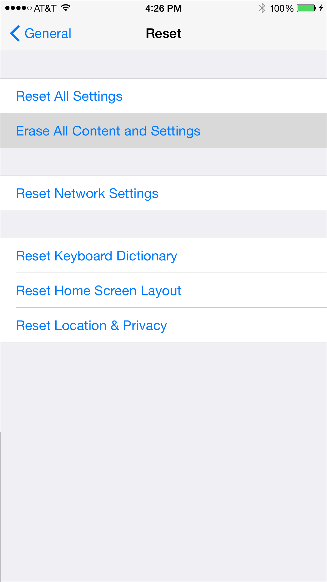 Erase all contents and settings from your iPhone