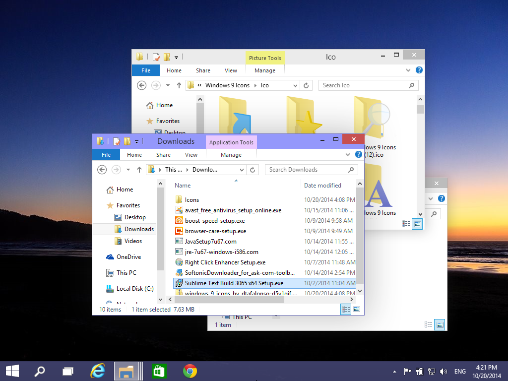Crazy windows in File Explorer