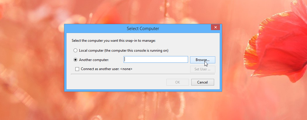 Using Task Scheduler to connect to a remote computer