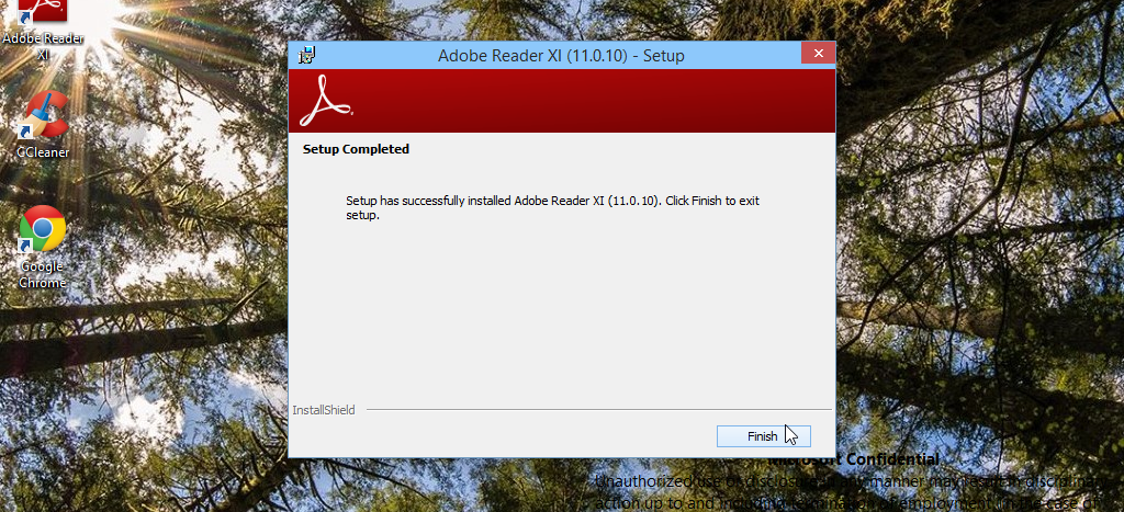 Installing Adobe Reader from FileHippo