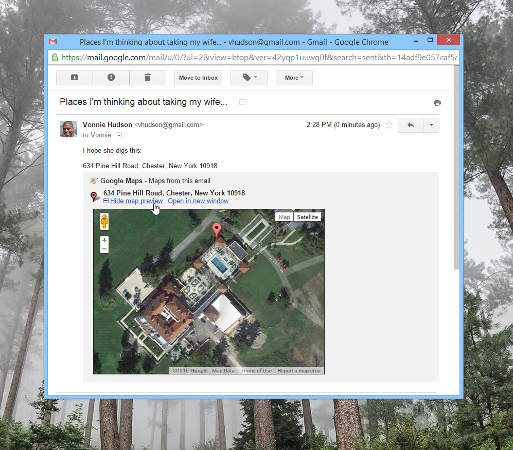 Enabling Google Maps in Gmail messages