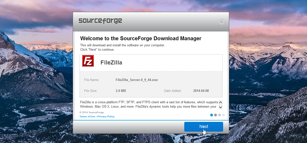 The Sourceforge Download Manager
