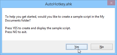 Running AutoHotKey in Windows